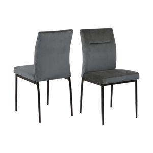 Dkton 24628 Dizajnová stolička Kassandra tmavosivá