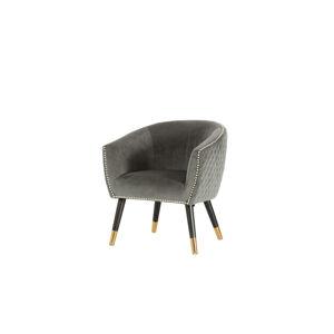 Furniria Dizajnové kreslo Siena sivý zamat