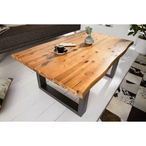 LuxD Dizajnový konferenčný stôl Evolution 110 cm akácia