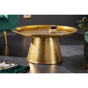 LuxD Dizajnový konferenčný stolík Malia 63 cm zlatý