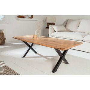 LuxD Dizajnový konferenčný stolík Massive X 118 cm akácia