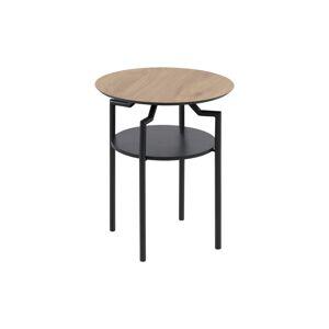 Dkton Dizajnový odkladací stolík Aitor, divoký dub
