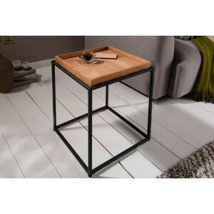 LuxD Dizajnový odkladací stolík Factor 40 cm dub