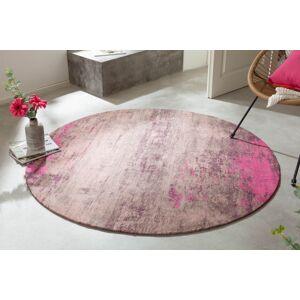 LuxD Dizajnový okrúhly koberec Rowan 150 cm béžovo-ružový