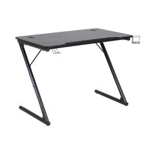 Dkton Dizajnový písací stôl Naretha 100 cm, čierny