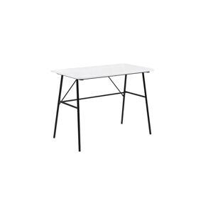 Dkton Dizajnový písací stôl Nava 100 cm, biely 2