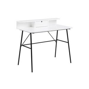 Dkton Dizajnový písací stôl Nava 100 cm, biely