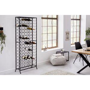 LuxD Dizajnový regál na víno Dalya 182 cm čierny