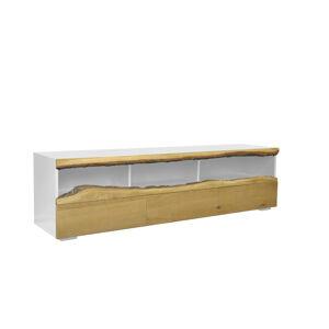 LuxD Dizajnový TV stolík Kira 180 cm dub - biely