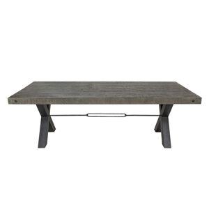 LuxD Dizajnový jedálenský stôl Thunder 240 cm sivý - borovica