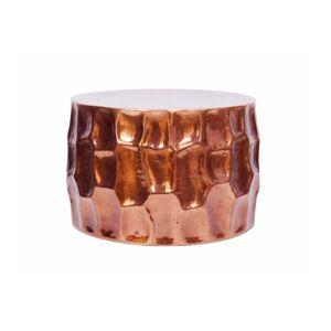 LuxD Dizajnový konferenčný stolík Alijah 55 cm medená farba
