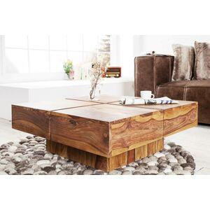LuxD Dizajnový konferenčný stolík Dash 80 cm sheesham