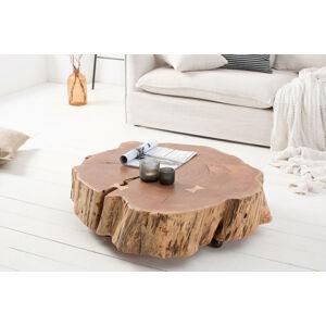 LuxD Dizajnový konferenčný stolík Island 80 cm prírodný