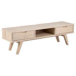 Dkton Dizajnový TV stolík Agni 150 cm svetlý dub