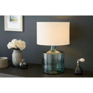 LuxD 21255 Stolová lampa Dylan, recyklované sklo