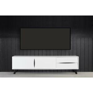 Furnistore Elegantný TV stolík Aaden, biela / čierna