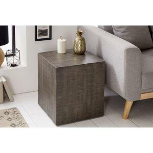 LuxD Dizajnová taburetka Unity, 40 cm, sivé mango