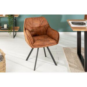 LuxD 21629 Dizajnová stolička Joe, hnedá