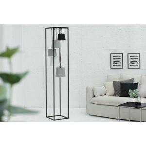 LuxD 20281 Dizajnová stojanová lampa Shadow II čierno-sivá Stojanové svietidlo