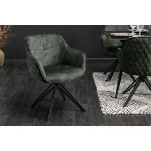 LuxD 23865 Dizajnová stolička Natasha tmavozelený zamat