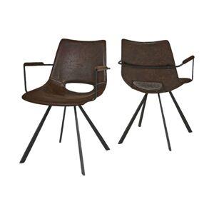 Catalent 19872 Dizajnová stolička Izabella s opierkami / hnedá