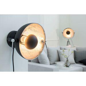 LuxD 20061 Nástenná lampa STAGE čierno strieborná