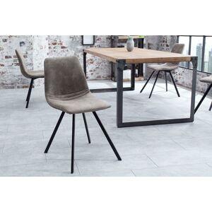 LuxD 20051 Dizajnová stolička Rotterdam Retro / sivo-hnedá