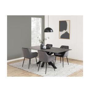 Dkton Jedálenský stôl Neele 200 cm čierny  - RP