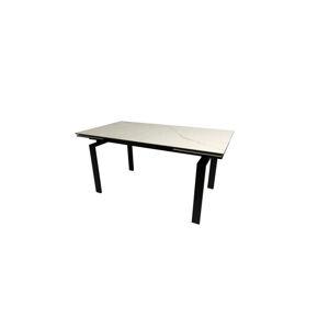 Dkton Jedálenský stôl rozkladací Neema 120/200 cm čierne sklo