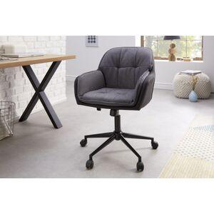 LuxD Kancelárska stolička Joe sivá antracitová