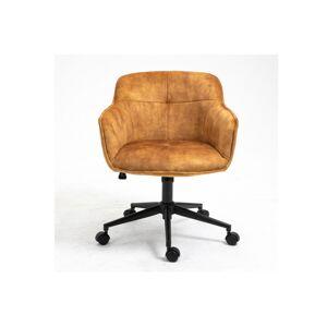 LuxD Kancelárska stolička Natasha horčicová žltá