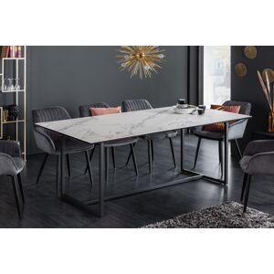 LuxD Keramický jedálenský stôl Sloane 200 cm biely mramor