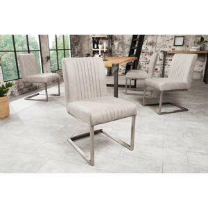 LuxD 22865 Konzolová stolička Boss sivá