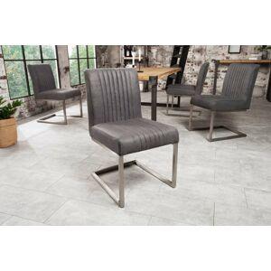 LuxD 22866 Konzolová stolička Boss vintage sivá