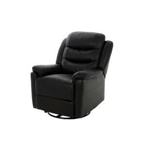 Dkton Luxusné relaxačné kreslo Nyomi, čierne