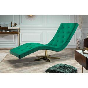 LuxD Luxusné relaxačné kreslo Rest smaragdovozelený zamat