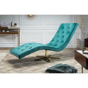 LuxD Luxusné relaxačné kreslo Rest tyrkysové, hviezdicová podnož