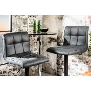 LuxD Dizajnová barová stolička Modern vintage sivá