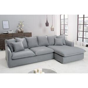 LuxD Rohová sedačka Eden, sivé plátno