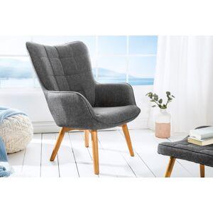 LuxD Dizajnové kreslo Sweden, sivé - Otvorené balenie - RP