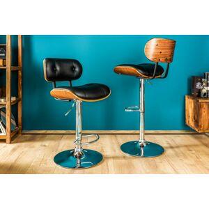 LuxD Dizajnová barová stolička Kadence, čierny orech