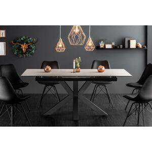 LuxD Dizajnový jedálenský stôl Zariah, 180-225 cm, betónový vzhľad