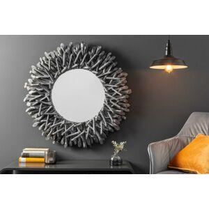 LuxD Dizajnové nástenné zrkadlo Kenley, , sivé 20 cm x  21253