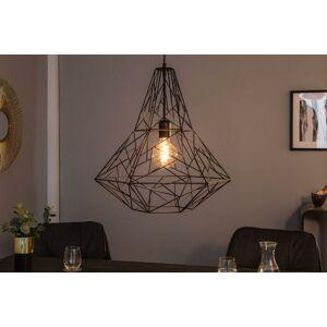 LuxD 21241 Dizajnová závesná lampa Bruce L, čierna závesné svietidlo