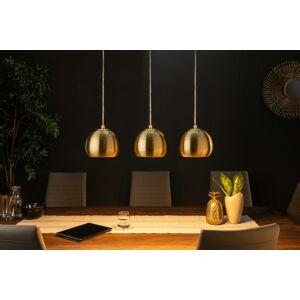 LuxD 21372 Dizajnová závesná lampa Giovani 3 zlatá  - Rp závesné svietidlo