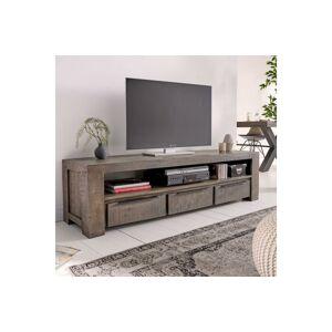 LuxD Dizajnový TV stolík Thunder 170 cm, sivé mango  - RP