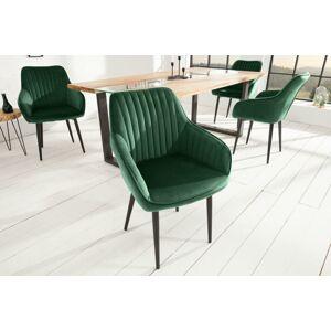 LuxD 21482 Dizajnová stolička Esmeralda, zelená