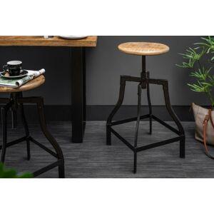 LuxD Barová stolička Thunder, 60-74 cm, mango