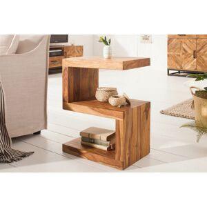 LuxD Dizajnový odkladací stolík Ari, 60 cm, sheesham