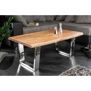 LuxD Dizajnový konferenčný stolík Massive, 110 cm, akácia